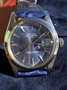 Rolex Date 1500 Vintage Automatic 34 Mm Blue Dial - Beautiful Condition