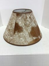 Pottery Barn Rustic Cabin Country Cowhide Table Lamp Light SHADE Medium Brown