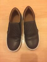 Boys M&S Brown Slip on Shoes Uk Size 13