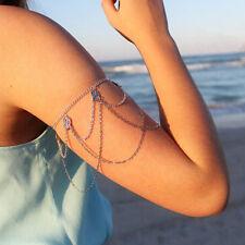 Boho Silver Upper Slave Arm Cuff Harness Chain Armlet Armband Bracelet Bangle
