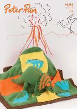 Wendy Peter Pan Dinosaur Toy & Motif Blanket DK Knitting Pattern  P1266