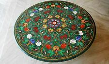 4' green  marble table top coffee center center inlay lapis home decor Z117