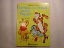 Winnie the Pooh Meets Tigger, Golden Book, Walt Disney, 1978, 18th