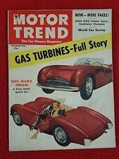 Motor Trend September 1953 Studebaker - DeSoto - Kaiser - Gas Turbines