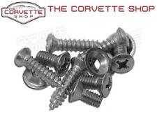 C3 Corvette Headlight Bezel Screw Set w/ Washers To Fix Large Hole 1968-82 K1048