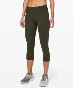 Lululemon Women's Speed Up Crop DKOV Dark Olive Size 6