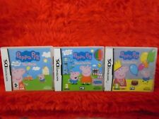 ds PEPPA PIG x3  Fun and Games Theme Park Lite DSI Nintendo PAL