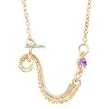 Disney The Little Mermaid Tentacle Ursula Octopus Purple Faux Gem Necklace NEW