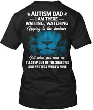 Autism Dad I Am Waiting Watching Keeping - There , To Hanes Tagless Tee T-Shirt