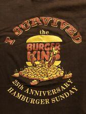"""RARE 1979 Burger King T-Shirt """"I Survived The 25th Anniversary Hamburger Sunday"""""""