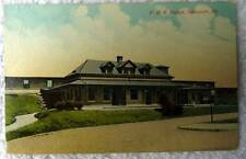POSTCARD RAILROAD TRAIN DEPOT STATION NEWPORT PENNSYLVANIA #n865
