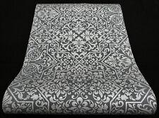 "10024-15) moderne Vliestapete ""Bali"" edle Ornamente grau und silber mit Glanz"