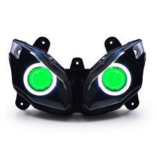 KT LED Angel Eye HID Headlight Assembly for Kawasaki Ninja 650 2012 13 14 15 16