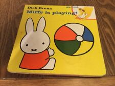 Miffy is Playing by Dick Bruna (Hardback, 1997) LIFT THE FLAP