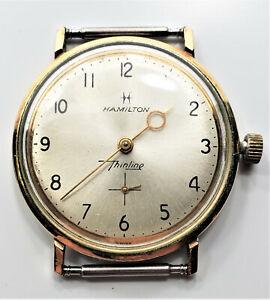 Running 10K Gold Filled Men's Hamilton Thinline 33mm Wrist Watch W1