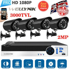 8CH HD HDMI 1080P DVR 3000TVL Outdoor Surveillance Security Camera CCTV System