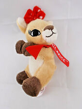 """Dan Dee Clarice Pinch Plush Rudolph the Red Nosed Reindeer 4.25"""" Tall"""
