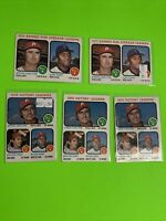🔥 1973 Topps Baseball Card Set #65 / #66 LOT X5 1972 PITCHING Leaders CARLTON