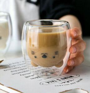 Cute Coffee Cup / Clear Coffee Mug / Tea Cups / Milk Cups / Coffee Cups - 375ml