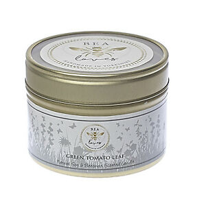 Bea Loves Natural Scented Soy Wax & Pure Beeswax 130g Candle: Green Tomato Leaf