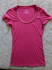Victoria's Secret Tee Shirt Size Small/Petite Pink with Sequin neckline