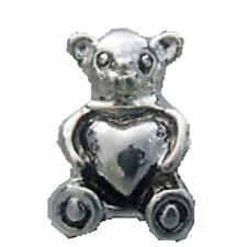 Kids Teddy Bear Heart Bead Fit Silver European StyleCharm Braceletsm416