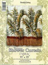 Hawaiian Fabric Shower Curtain Palm floral colorful Florida Hawaii Tropical