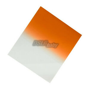 Square Gradual Orange Plexiglas Color Conversation Filter for Cokin P Holder1