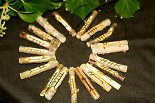 Drilled Celtic Ogham staves made on corresponding woods for pendants/divination