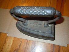 💎 Antique IRON U-DX-5 Old Flat Cast Iron Vintage Clothes Iron (Sad) 4+lbs