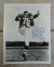 """VINTAGE LOU GROZA """"THE TOE""""  AUTO SIGNED 8 x 10 PHOTO CLEVELAND BROWNS RARE"""