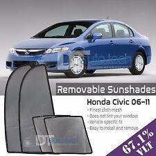 Custom Fit Mesh Sun Block Visor UV Protection 4-Piece 2006-2011 Honda Civic