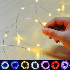10/20/30 LED Battery Micro Rice Wire Copper Fairy String Lights Party white/rgb
