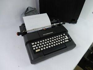 Vintage Olivetti Lexikon 83 DL Electric Portable Typewriter w/Case - Functional