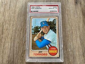 1968 Topps Jeff Torborg Los Angeles Dodgers #492 PSA 10 GEM MINT Card