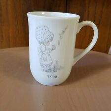 Precious Moments May Mug Birthday Girl Bonnet Butterfly Enesco
