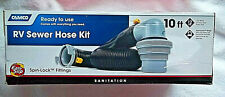New listing Rv Sewer Hose Kit Spin-Lock Rings Expands To 10 Feet Made In Usa - Nib
