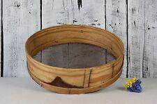 Antique primitive wooden sieve / Vintage natural wood sifter / Home Decor