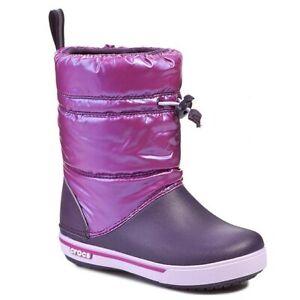 Stivale anti pioggia bambina CROCS caloche CROCBAND iridescent guest boot kids