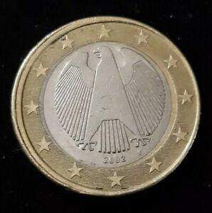 Monnaie 1 Euro Allemagne 2002 F Roue de wagon Erreur faute fautée (76)