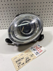 2012 2013 2014 2015 2016 2017 FIAT 500 LEFT SIDE HEADLIGHT OEM 2 TABS REPAIRED