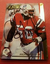 Andre Tippett AUTO HOF 1992 Action Packed Card Inscribed Velma #165 Patriots HS