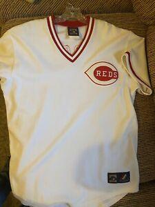 Joe Morgan Cincinnati Reds Majestic Brand Cooperstown Collection Jersey