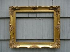Vintage Modern Ornate Gold Wood Picture Frame fits 16 x 20