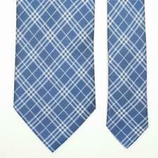 BURBERRY LONDON TIE Check in Blue Classic Woven Silk Necktie
