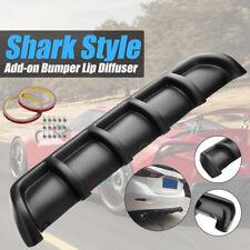 "25""x5"" Matte Black Universal ABS Rear Shark 6 Fin Curved Bumper Lip Diffuser Kit"