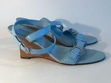 Fioni women's Wedge Sandals blue Shoes size 10