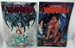 1994 1st Print pair VAMPIRELLA #5 & #6 (signed by Hearn Cho) VF/NM Harris Comics