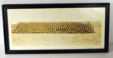 """WWII 16"""" Sepia Photo Soldiers Company Group Posing Framed"""