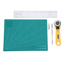 5Pcs Sewing Quilting Tools Kit Rotary Cutter-Cutting Mat-Ruler-Carving Knife Set